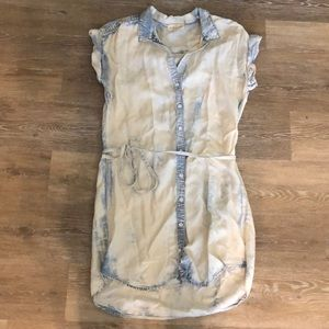 Women's casual button up dress cloth & stone small